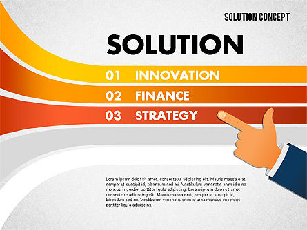 Solution Concept Options, Slide 4, 01861, Stage Diagrams — PoweredTemplate.com