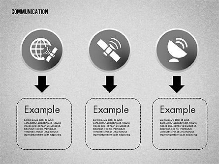 Communication and Media Icons, Slide 5, 01862, Icons — PoweredTemplate.com