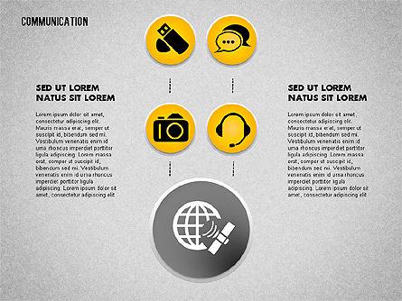 Communication and Media Icons, Slide 6, 01862, Icons — PoweredTemplate.com
