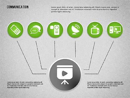 Communication and Media Icons, Slide 7, 01862, Icons — PoweredTemplate.com