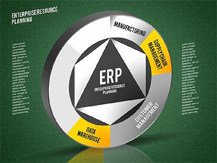 ERP Diagram, Slide 13, 01864, Business Models — PoweredTemplate.com