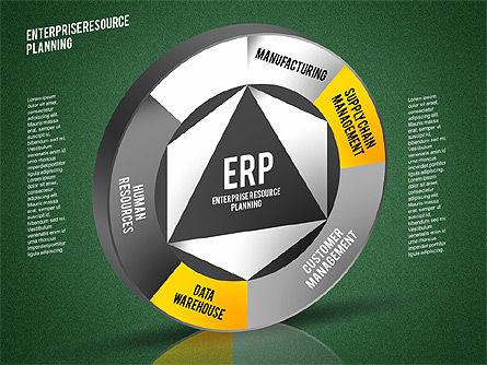 ERP Diagram, Slide 14, 01864, Business Models — PoweredTemplate.com