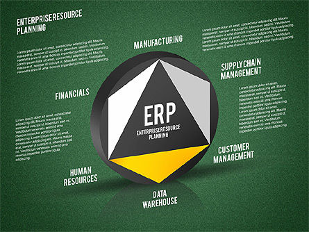 ERP Diagram, Slide 16, 01864, Business Models — PoweredTemplate.com