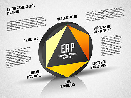 ERP Diagram, Slide 8, 01864, Business Models — PoweredTemplate.com