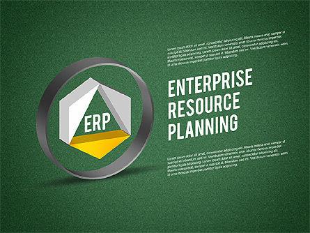 ERP Diagram, Slide 9, 01864, Business Models — PoweredTemplate.com