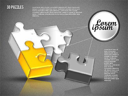 3D Puzzle Set, Slide 11, 01866, Puzzle Diagrams — PoweredTemplate.com