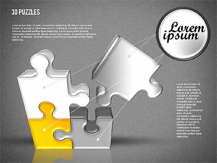 3D Puzzle Set, Slide 12, 01866, Puzzle Diagrams — PoweredTemplate.com