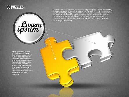 3D Puzzle Set, Slide 13, 01866, Puzzle Diagrams — PoweredTemplate.com