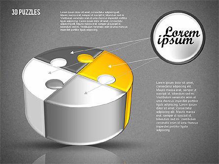 3D Puzzle Set, Slide 14, 01866, Puzzle Diagrams — PoweredTemplate.com