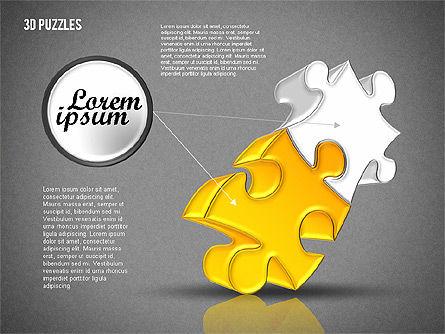 3D Puzzle Set, Slide 16, 01866, Puzzle Diagrams — PoweredTemplate.com