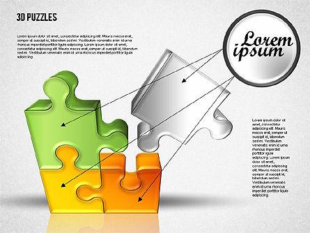 3D Puzzle Set, Slide 4, 01866, Puzzle Diagrams — PoweredTemplate.com