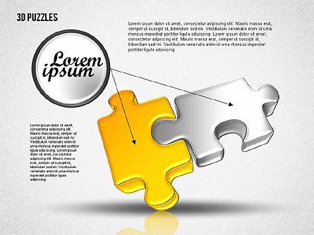 3D Puzzle Set, Slide 5, 01866, Puzzle Diagrams — PoweredTemplate.com