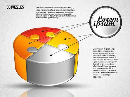 3D Puzzle Set, Slide 6, 01866, Puzzle Diagrams — PoweredTemplate.com