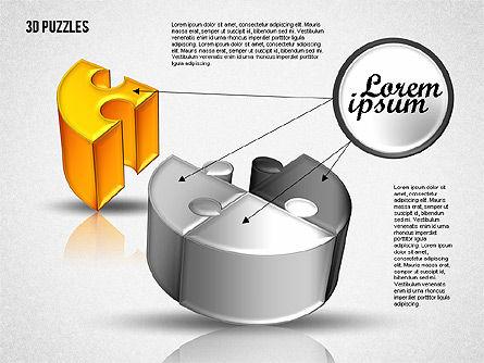 3D Puzzle Set, Slide 7, 01866, Puzzle Diagrams — PoweredTemplate.com