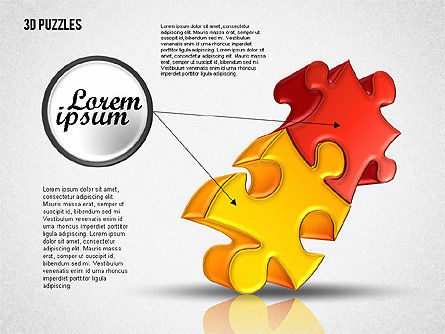 3D Puzzle Set, Slide 8, 01866, Puzzle Diagrams — PoweredTemplate.com