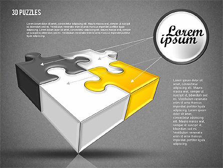 3D Puzzle Set, Slide 9, 01866, Puzzle Diagrams — PoweredTemplate.com