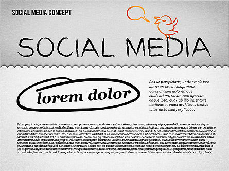 Social Media Presentation Concept, 01867, Presentation Templates — PoweredTemplate.com