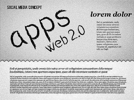 Social Media Presentation Concept, Slide 10, 01867, Presentation Templates — PoweredTemplate.com