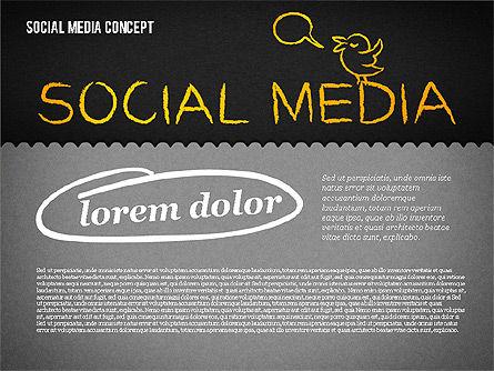 Social Media Presentation Concept, Slide 11, 01867, Presentation Templates — PoweredTemplate.com