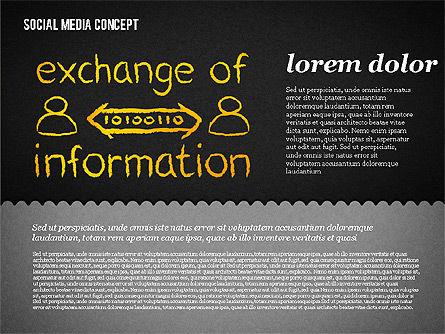 Social Media Presentation Concept, Slide 12, 01867, Presentation Templates — PoweredTemplate.com