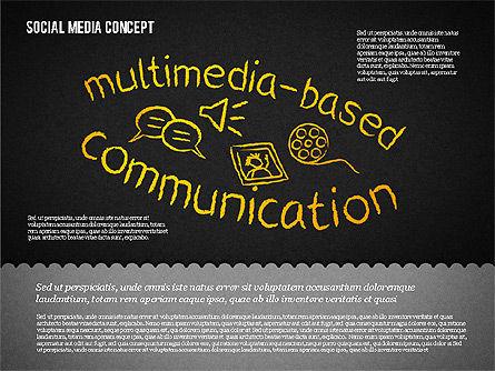 Social Media Presentation Concept, Slide 13, 01867, Presentation Templates — PoweredTemplate.com