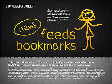 Social Media Presentation Concept, Slide 14, 01867, Presentation Templates — PoweredTemplate.com