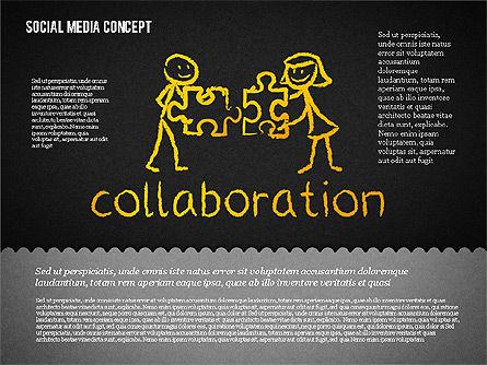 Social Media Presentation Concept, Slide 16, 01867, Presentation Templates — PoweredTemplate.com