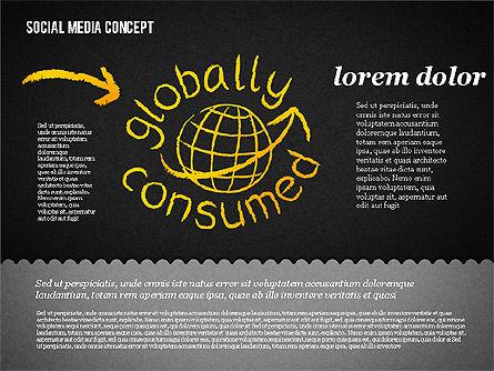 Social Media Presentation Concept, Slide 18, 01867, Presentation Templates — PoweredTemplate.com