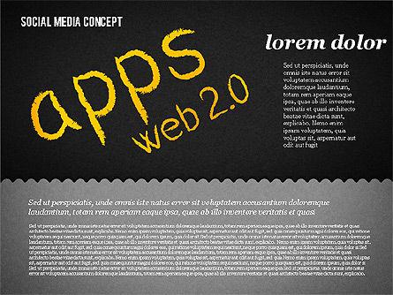 Social Media Presentation Concept, Slide 20, 01867, Presentation Templates — PoweredTemplate.com