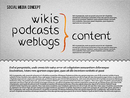 Social Media Presentation Concept, Slide 5, 01867, Presentation Templates — PoweredTemplate.com
