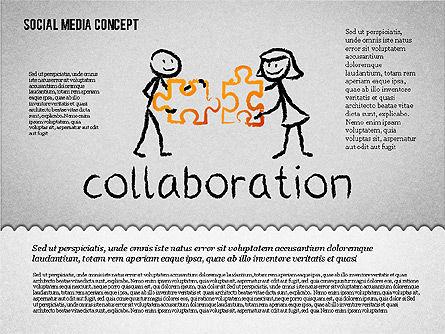 Social Media Presentation Concept, Slide 6, 01867, Presentation Templates — PoweredTemplate.com