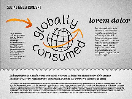 Social Media Presentation Concept, Slide 8, 01867, Presentation Templates — PoweredTemplate.com