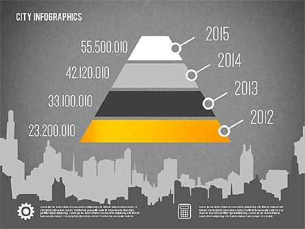 City Presentation Infographics, Slide 10, 01868, Presentation Templates — PoweredTemplate.com