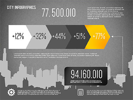 City Presentation Infographics, Slide 16, 01868, Presentation Templates — PoweredTemplate.com