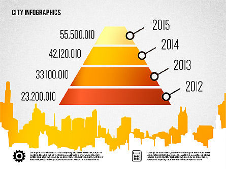 City Presentation Infographics, Slide 2, 01868, Presentation Templates — PoweredTemplate.com