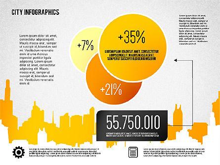 City Presentation Infographics, Slide 3, 01868, Presentation Templates — PoweredTemplate.com