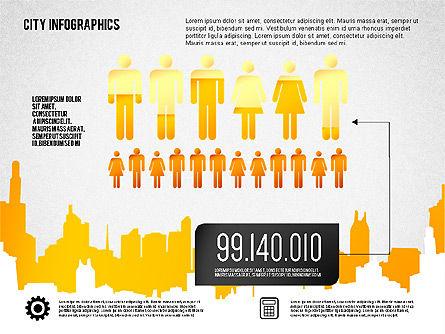 City Presentation Infographics, Slide 5, 01868, Presentation Templates — PoweredTemplate.com