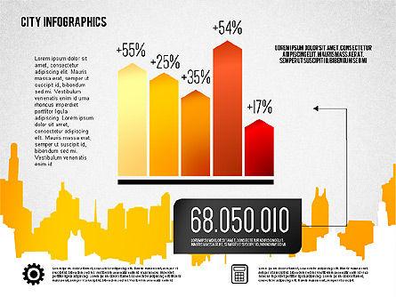 City Presentation Infographics, Slide 6, 01868, Presentation Templates — PoweredTemplate.com