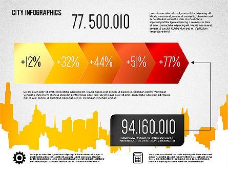 City Presentation Infographics, Slide 8, 01868, Presentation Templates — PoweredTemplate.com