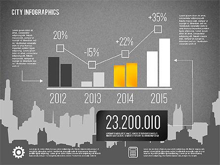 City Presentation Infographics, Slide 9, 01868, Presentation Templates — PoweredTemplate.com