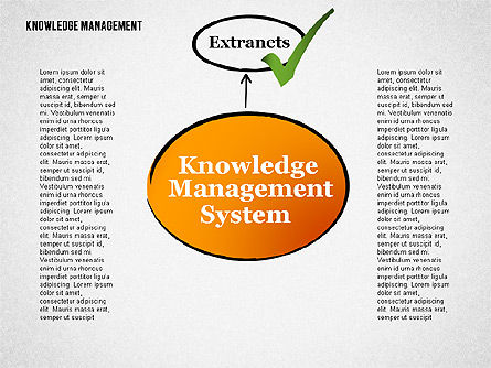 Knowledge Management System Diagram, 01869, Process Diagrams — PoweredTemplate.com