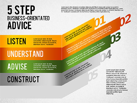 5 Step Business-Oriented Advice, Slide 4, 01875, Stage Diagrams — PoweredTemplate.com