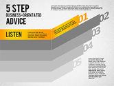 Stage Diagrams: 5 Schritt geschäftsorientierte Beratung #01875