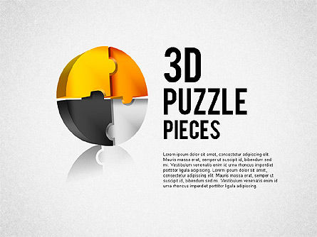Puzzle Diagrams: 3D Puzzle Pieces #01879