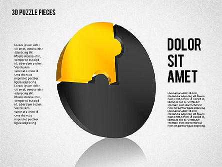 3D Puzzle Pieces, Slide 2, 01879, Puzzle Diagrams — PoweredTemplate.com