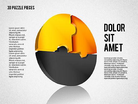 3D Puzzle Pieces, Slide 3, 01879, Puzzle Diagrams — PoweredTemplate.com