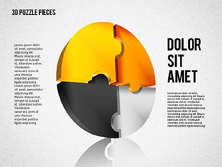 3D Puzzle Pieces, Slide 4, 01879, Puzzle Diagrams — PoweredTemplate.com