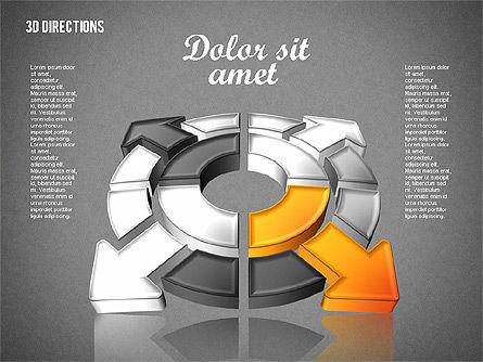 Three Dimensional Arrows, Slide 10, 01881, Shapes — PoweredTemplate.com