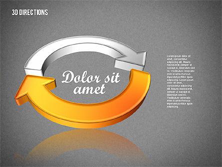 Three Dimensional Arrows, Slide 11, 01881, Shapes — PoweredTemplate.com