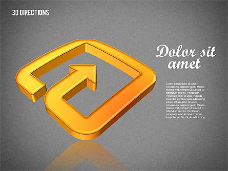 Three Dimensional Arrows, Slide 12, 01881, Shapes — PoweredTemplate.com